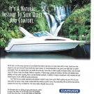 1996 Carver 310 Express Cruiser Yacht Color Ad- Nice Photo