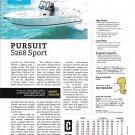 2021 Pursuit S268 Sport Boat Review- Boat Specs & Photo