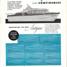 1959 Crosby Antigua Boat Ad- Drawing