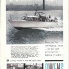 1959 Owens 28' Flagship Cruiser Yacht Ad- Nice Photo