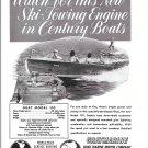 1953 Century Boat Featured in Gray Marine Motor Ad- Nice Photo