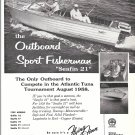 1959 Flying Finn Boat Co Ad- Nice Photo of Seafin 21Boat