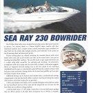 2001 Sea Ray 230 Bowrider Boat Review- Boat Specs & Nice Photo