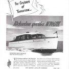 1949 Richardson 31 Sedan Cruiser Boat Featured in Auto- Lite Ad- Nice Photo