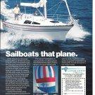 1984 Lancer 25 Powersailer Yacht 2 Pg Color Ad- Nice Photo- Joyce Phelps
