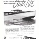 1954 Colonial 35' Sport Cruiser Boat Featured in Auto- Lite Ad- Nice Photo