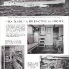 "1954 Huckins Yacht Corp Oceanic 60 Yacht Ad- Great Photos of ""Sea Flash"""