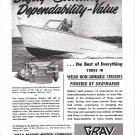 1953 Gray Marine Motors Ad- Nice Photo of Welin 22 Sea Jet Boat