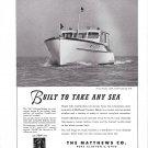 1948 Matthews 38' DeLuxe Sedan Yacht Ad- Boat Specs & Nice Photo