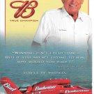 2003 Budweiser Beer Color Ad- Photo of Budweiser Hydroplane-Bernie Little