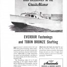 1948 Anaconda Copper Ad Featuring CruisAlong Boat- Nice Photo