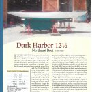 2012 Northeast Boat Dark Harbor 12 1/2 Boat Review- Boat Specs & Nice Photo