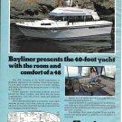 1979 Bayliner Marine 4050 Bodega Yacht Color Ad- Nice Photo