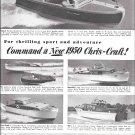 1950 Chris- Craft Boats Ad- Nice Photos of 6 Models