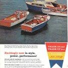 1960 Chris- Craft Sea Skiffs Color Ad- Nice Photo of 36- 20- 27 & 23' Models