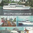 1967 Pacemaker Yachts 2 Page Color Ad- Nice Photos