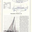1967 Westerly 28 Fiberglass Yacht Ad- Boat Specs & Photo