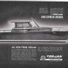 1964 Trojan Boat Co Ad- Nice Drawing of Sea Skiff 3400 Express Cruiser