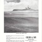 1948 Chubb Insurance Ad- Nice Drawing of Montayk Point