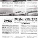 1949 Owens 42 Flagship Yachts Ad- Nice Photos