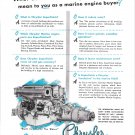 1949 Chrysler Marine Engines Ad- Drawing