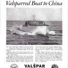 "1949 Valspar Marine Finishes Ad- Nice Photo of 42' Yacht ""Tyche"""