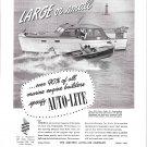 1949 Auto- Lite Spark Plugs Ad-Nice Photo Chris- Craft 36' & 17' Boats