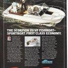 1980 Chris- Craft Scorpion 211 VF Fishboat Color Ad- Nice Photo