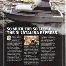 1980 Chris- Craft 3' Catalina Express Yacht Color Ad- Nice Photo