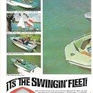 1967 Glastron Boats 2 Page Color Ad- Nice Photo V-156 Sportster & V-146 Fish n