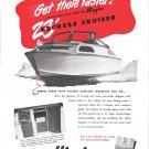 1949 Higgins 23' Express Cruiser Boat Ad- Nice Photo