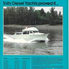 1980 Tollycraft Yacht Color Ad- Nice Photo