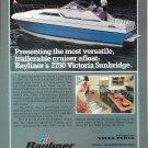 1980 Bayliner Marine 2750 Victoria Sunbridge Yacht Color Ad- Nice Photo