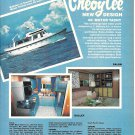 1980 Cheoy Lee 66' Motor Yacht Color Ad- Nice Photos