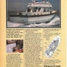 1980 Down East Trawler 40 Yacht Color Ad- Nice Photo