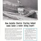 1960 Auto- Lite Marine Ad- Nice Photo Crosby 15' Boat With 40 HP Johnson Motor