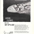 1960 Larson Playmate 14' Runabout Boat Ad- Nice Photo
