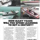 Old Century Boats Color Ad- Nice Photo of 300- 5000- CTS & Resorter 18