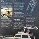 1980 Uniflite37' Coastal Cruiser Yacht Color Ad- Nice Photo