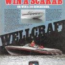 1980 Wellcraft Marine 310 Suncruiser Boat Color Ad- Nice Photo- Hot Girl