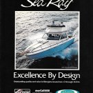 1980 Sea Ray SRV- 300 Sportbridge Boat Color Ad- Nice Photo