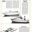 1980 Sea Ray SRV 22- Scorpion 230S- Carver 2347 New Boats Ad- Photos