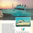 1980 Mainship 34 Motor Cruiser Yacht Color Ad- Nice Photo