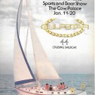 1980 Gulfstar 44 Cruising Sailboat 2 Page Color Ad- Nice Photo