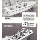 Old Stamas Boats Ad- Nice Photo of V-24 Tarpon & V-24 Clearwater