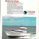1969 Trojan 31' Express Cruiser Boat Color Ad- Nice Photo