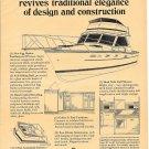 1969 Egg Harbor 33 Sedan Cruiser Boat 2 Page Ad- Drawing