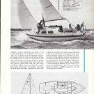 1969 Westerly Centaur 26' Sailboat Ad- Nice Photo & Boat Specs