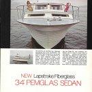 1969 Pembroke 34' Pemglas Sedan Yacht Color Ad- Nice Photo- Hot Girls