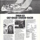 1977 Nautor Swan 431 Cruiser- Racer Boat Ad- Nice Photo